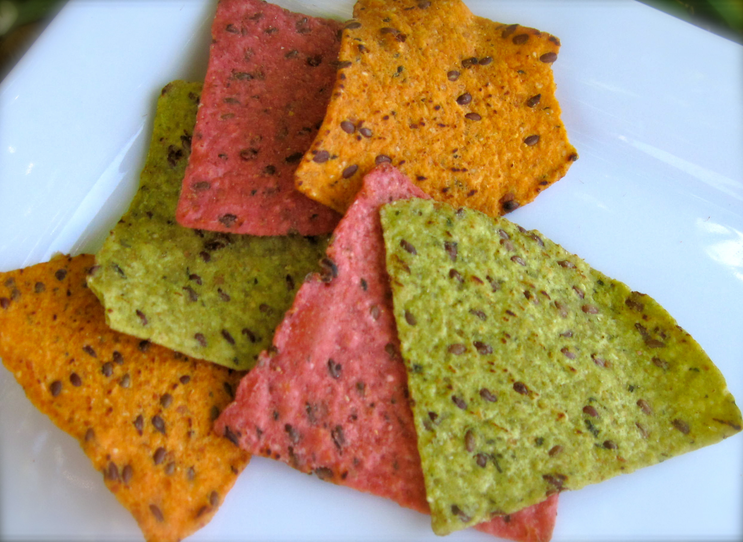 Nachos On Veggi... Guacamole And Tortilla Chips Healthy